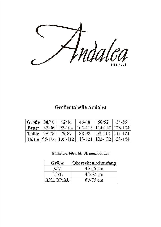 Andalea Damen T/üll-Chemise mit Wetlook