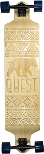 Quest Skateboards California Native Spirit Skateboard,Longboard , 41 , Natural