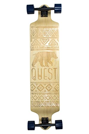 Quest Skateboards California Native Spirit Skateboard,Longboard , 41', Natural