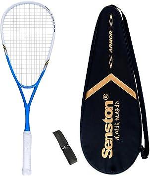 Senston Graphite Squash Racquet Graphite Squash Racket Full Carbon Squash Racquet with Racket Cover and Overgrip