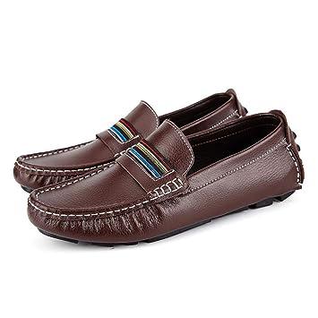 YaXuan Zapatos de Hombre Cuero Primavera/Verano / Otoño Confort/Suela Ligera Mocasines y Slip-Ons Zapatos de Paseo/Zapatos Perezosos Transpirables: ...