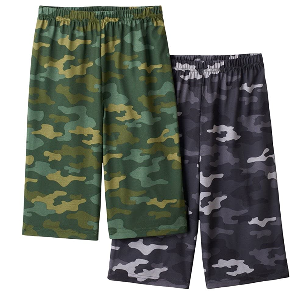 Up-Late Big Boys 2-Pack Sleep Jam Lounge Shorts Camo)