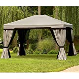 Garden Winds Replacement Canopy Top Cover For The Garden Oasis Sojag 10x12  Gazebo   350