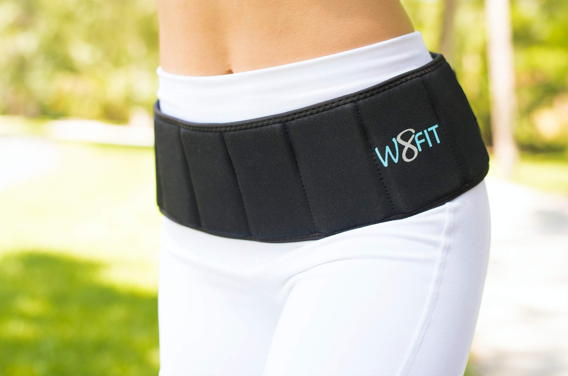 W8FIT Adjustable Weighted Belt 4 lbs (Small/Medium)