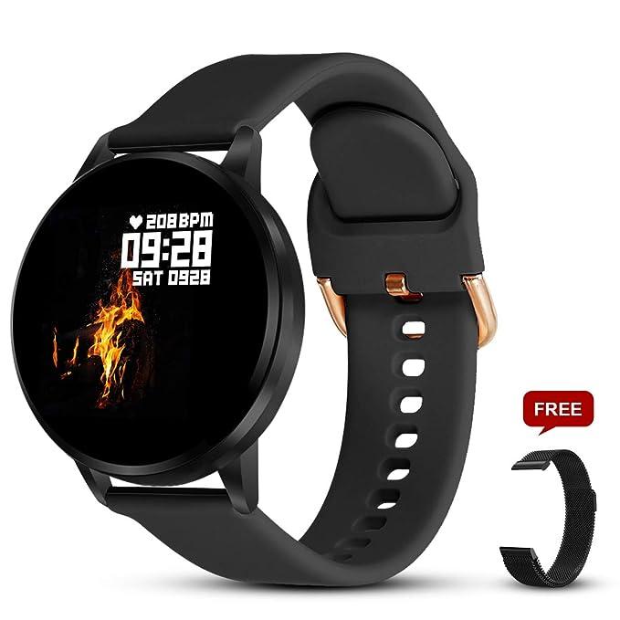 GOKOO Smartwatch Mujer Hombres Reloj Inteligente Pulsera de Actividad Smartwatch con Podómetro Monitor de Frecuencia Cardíaca Calorías Cronómetro de Monitoreo del Sueño Reloj Deportivo