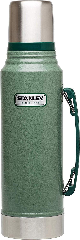 Doppelwandige Isolierung Isolierflasche Isolierkanne Kaffeekanne Stanley Legendary Classic Vakuum-Thermoskanne Integrierter Thermobecher 18//8 Stainless Edelstahl Hammertone Green 0.75 Liter