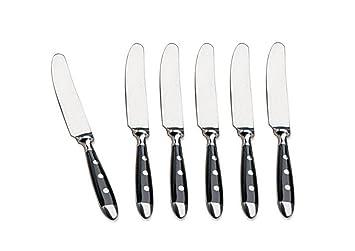 6 pieza Cuchillos Bistro Cubiertos Serie - Llano Cuchillo Cuchillo de la serie Kerafactum: Amazon.es: Jardín