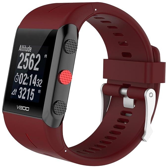 Banda de Reloj Polar 800 de Reemplazo Correa Caucho Brazalete de Silicona Correa muñeca Strap de Color sólido Cadena Deportes Wristbands Suave Strap: ...