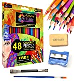 Colored Pencils - 48 Color Pencils Set Premium Drawing & Coloring Deal (Small Image)
