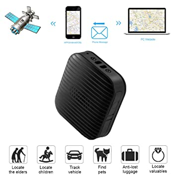 zeerkeer Mini Portátil Coche GPS Tracker localizador Satélite App SIM Cortafrío de Posición GPS Protección Anti