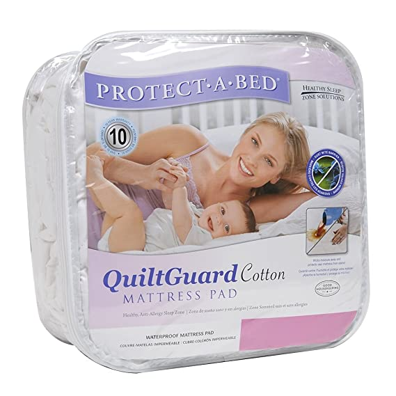 Amazon.com: Protect-A-Bed Quilt Guard Cotton Twin Mattress Pad: Home & Kitchen