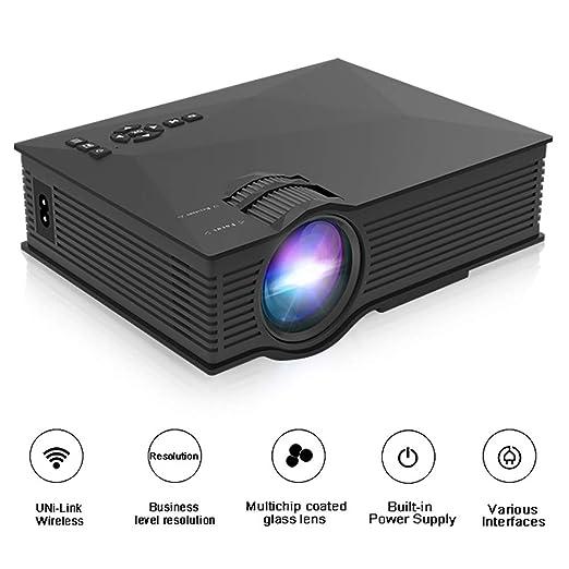 QLPP Proyector portátil 800 lúmenes Full HD 1080P Cine en casa con ...