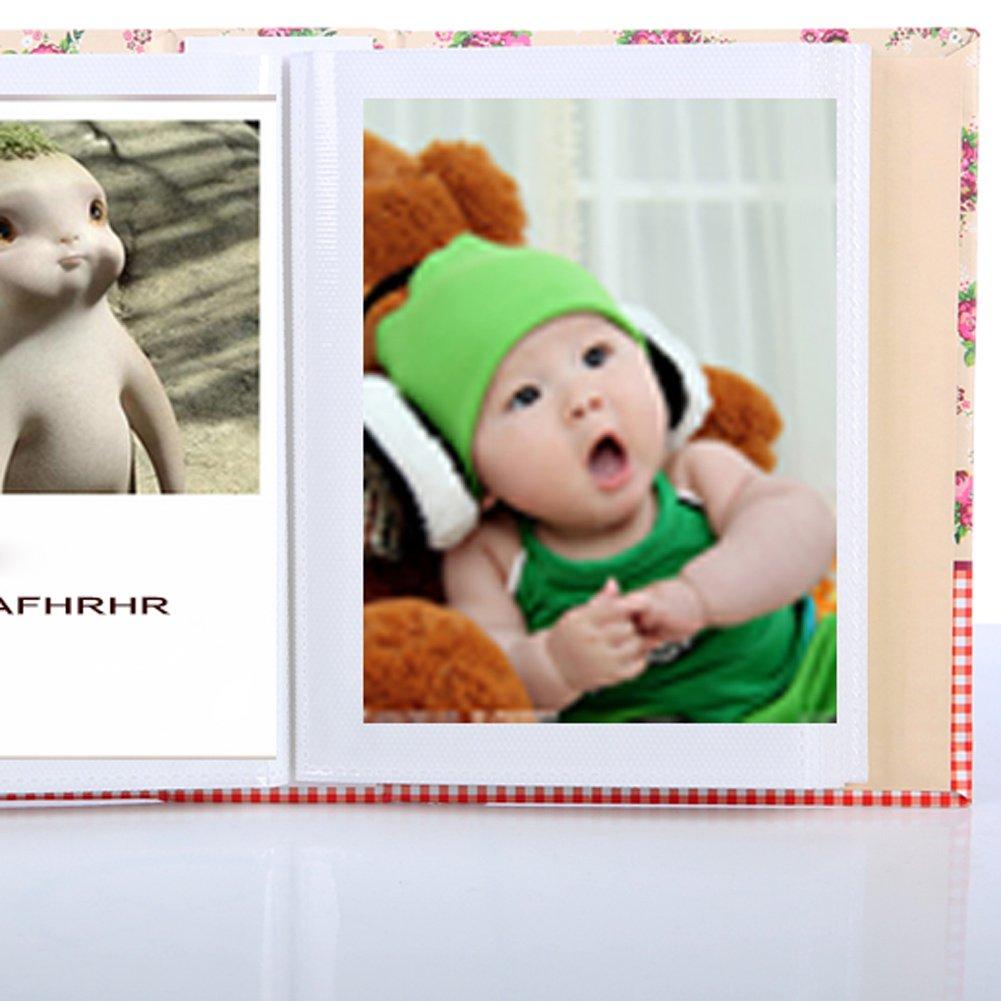 Colore Casuale Demiawaking 1pz 4R 100 Tasche Album Foto di Copertura Floreale Piccola Album Fotografico