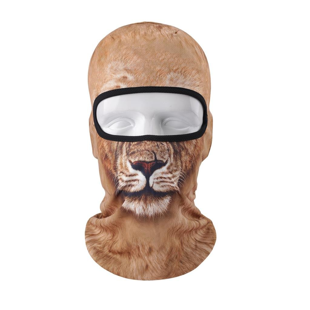 ... Máscara Completa para Esquí Ciclismo Motociclismo Casco Trazador de líneas Senderismo Acampar Cuello Calentador, León: Amazon.es: Deportes y aire libre