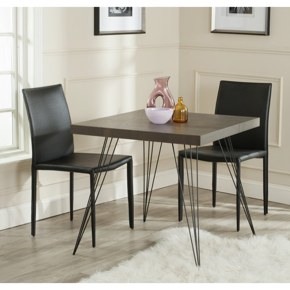 Safavieh Home Collection Wolcott Mid-Century Modern Dark Brown and Black Accent Table by Safavieh