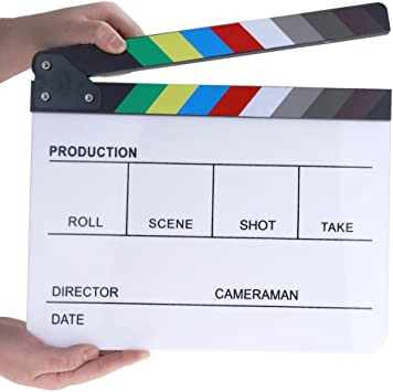 Professional Clapperboard board only - medium size