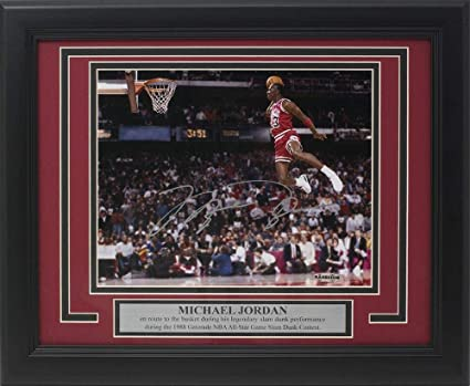 new product 961c9 64409 Image Unavailable. Image not available for. Color  Autographed Michael  Jordan ...