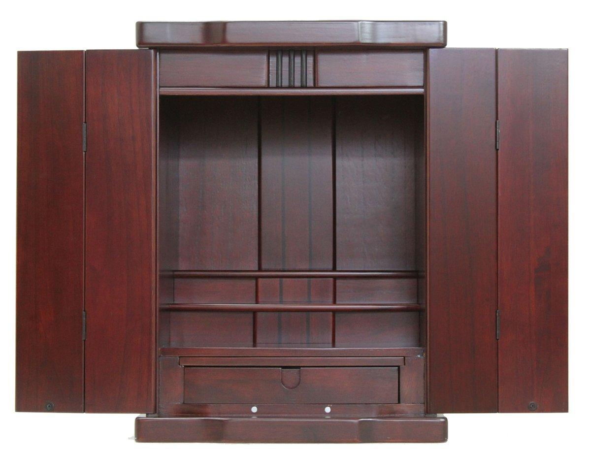 仏壇 上置き型ライト付き仏壇 HD-420 ダークブラウン 幅42 奥行35.5 高さ56.5 木製 天然木 B00OOOJGNU ダークブラウン ダークブラウン