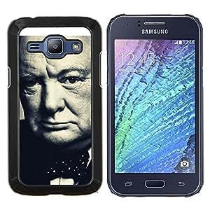 LECELL--Funda protectora / Cubierta / Piel For Samsung Galaxy J1 J100 -- Churchill británico --