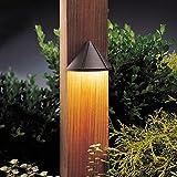 Kichler 15045AZT Six Groove Deck 1-Light 12V, Textured Architectural Bronze