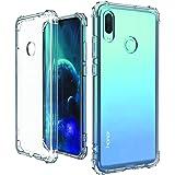 【最新の米軍規格】Huawei nova lite 3 ケース/Huawei P Smart 2019 ケース クリア PRODELI Huawei nova lite 3 カバー 耐衝撃 バンパー ストラップホール Qi充電対応 ファーウェイ nova lite3 保護ケース