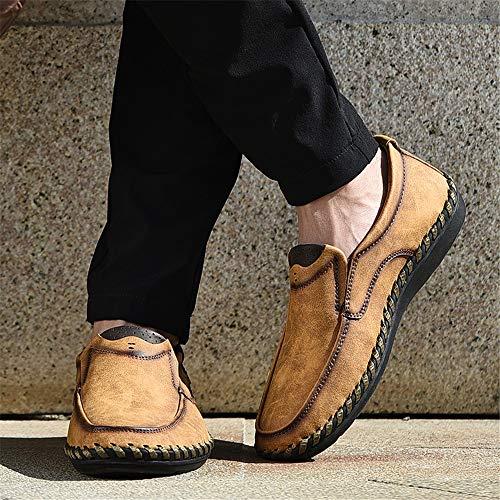 Dimensione Marrone su Cachi Fuxitoggo mocassini da uomo tip a 40 Fashion Colore Scarpe fatte EU business Slip mano casual U zwZBqa
