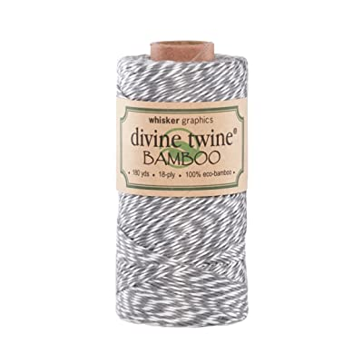 Divine Twine Eco-Bamboo, Gray/White: Arts, Crafts & Sewing
