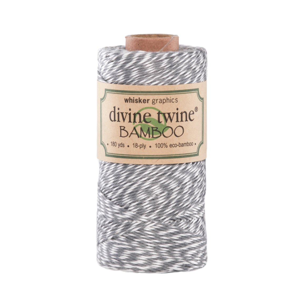 Divine Twine Eco-Bamboo, Gray/White Whisker Graphics m22011
