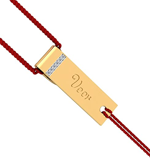 KuberBox 18KT Yellow Gold and Diamond Bracelet for Men Bracelets