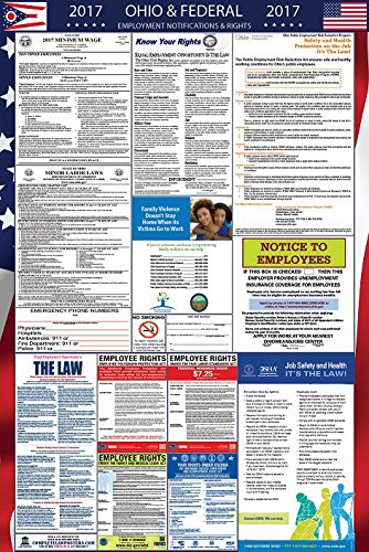 2017 Ohio and Federal Labor Law Poster Laminated