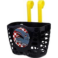 BESPORTBLE Kids Bike Basket Shark Pattern Bicycle Handlebar Basket Plastic Storage Basket for Boy Girls Scooter…