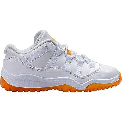top fashion 088e3 9f825 Amazon.com   580522-139  AIR Jordan Girls AJ 11 Retro Low PRE-School  Sneakers AIR JORDANWHITE CITRUSM  Shoes