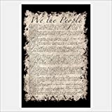eFrame Fine Art | U.S United States Constitution, We The People Sepia Art by Bruce Stanfield 8'' x 12'' Print Wall Art for Wall or Home Decor (Black, Brown, White Frame or No Frame)