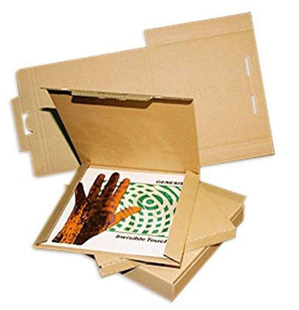 LP Schallplatten Versandkartons f/ür 1-3 LPs Protected 50 St/ück