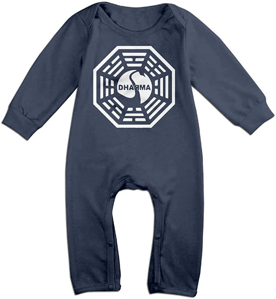 TOPDIY American TV Series Lost Dharma Initiative Long Sleeve Baby Romper Outfits