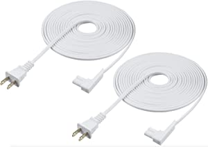 Vebner 16ft 2-Pack Power Cord Compatible with Sonos Play One, Sonos Play-1 and Sonos One SL Speaker. Compatible with Sonos Play One Power Cable Cord (Extra Long, White)
