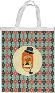 Cartoon Drawings - Monkey Printed Shopping bag, Large Size
