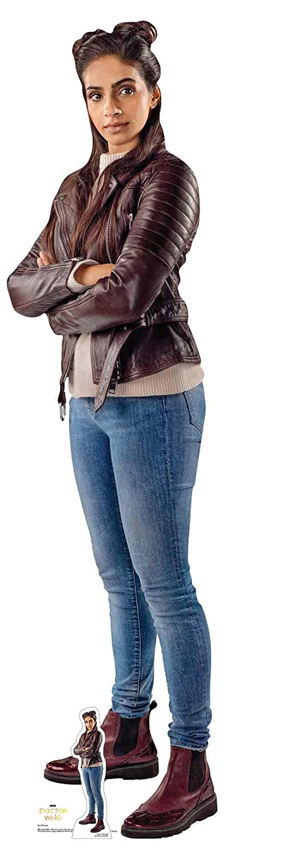 Official Star Cutouts  Mandip Gill Yasmin Lifesize Cardboard Cutout Doctor Who