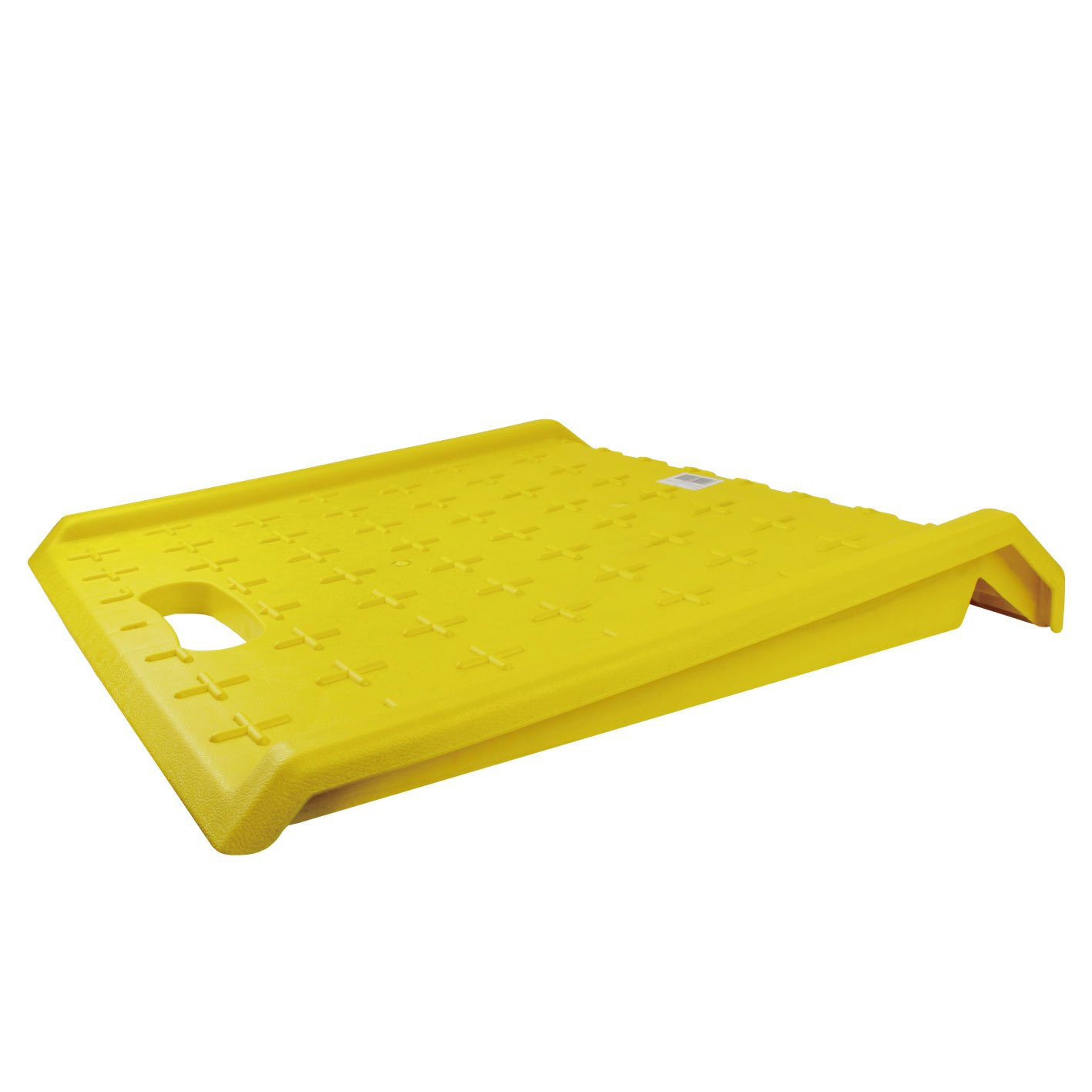 RK Safety RK-PCR27- Heavy Duty 1000 lbs Portable Curb Ramp for Hand Truck Delivery, Carts (Yellow)