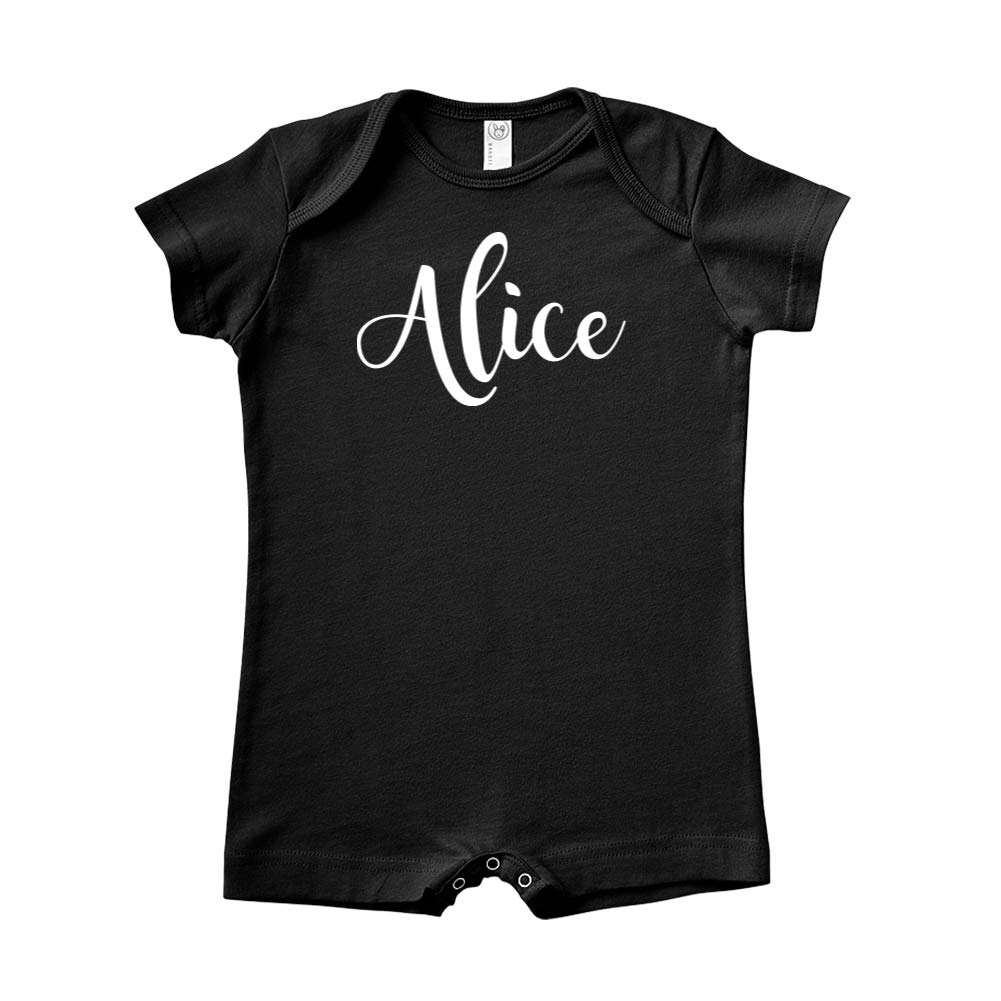 Personalized Name Baby Romper Mashed Clothing Alice