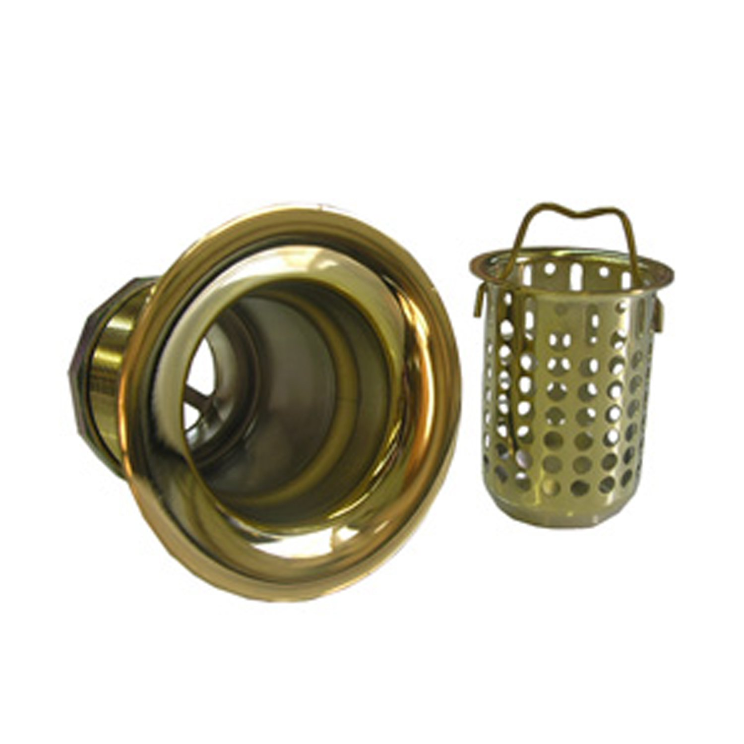 Polished Brass LASCO Simpatico 30083P Bar Sink Strainer Bail Basket Type 2-Inch Opening