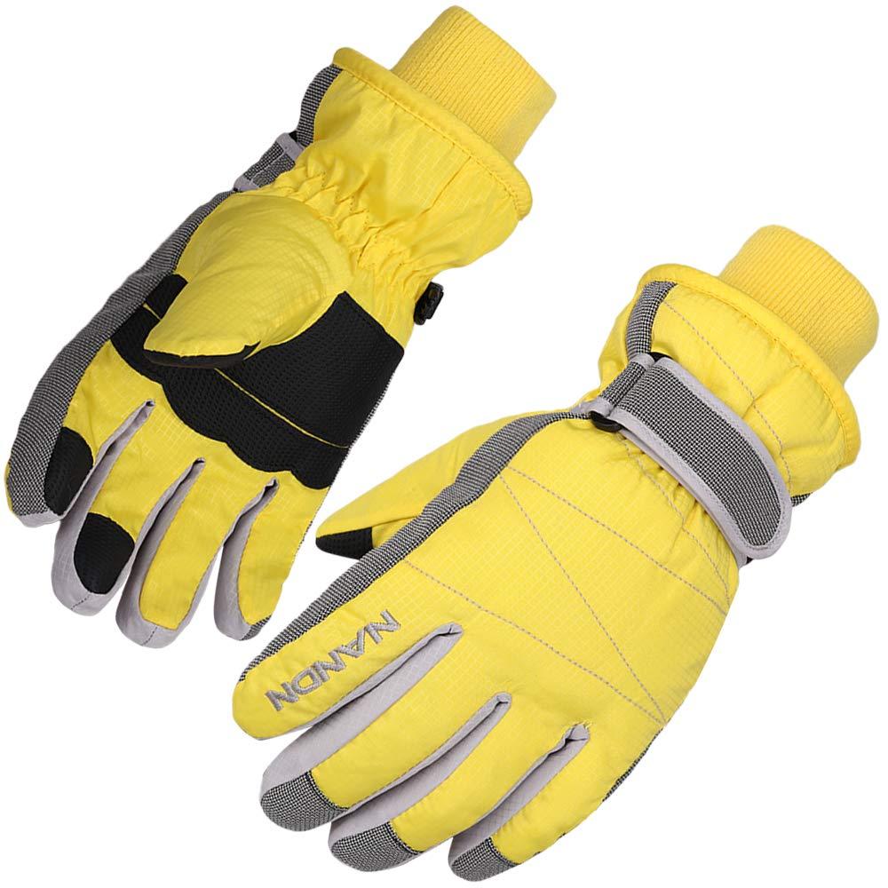 AMYIPO Kids Winter Snow Ski Gloves Children Snowboard Gloves for Age of 4 to 10
