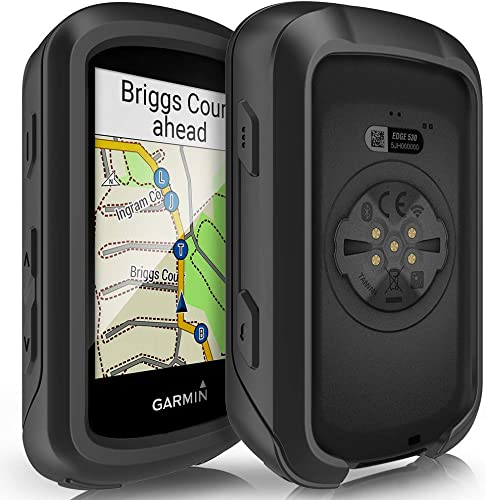TUSITA Case for Garmin Edge 530 – Silicone Protective Cover – Cycling GPS Computer Accessories