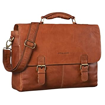 9cc758f7f3bfd STILORD  Dorian  Große Aktentasche Leder Herren Vintage Businesstasche zum  Umhängen mit 15.6 Zoll Laptop
