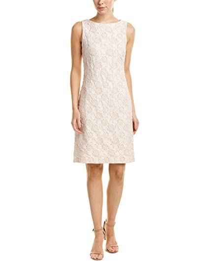 Donna Ricco Womens Sleeveless Stretch Brocade Sheath Cocktail Dress, Pink, ...