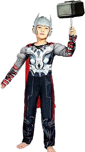 Disfraz de busto musculoso niño thor con máscara talla m 5/6 años ...