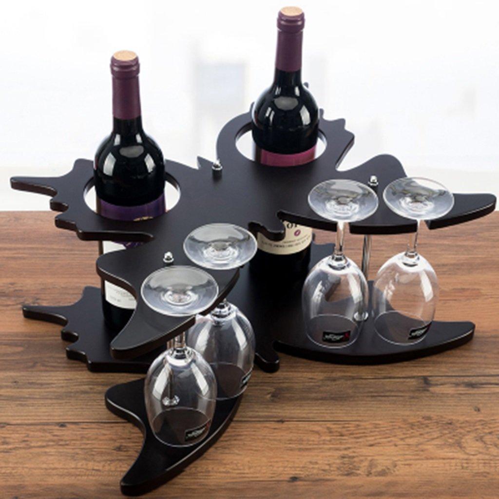 213045cm (8.211.817.7 inch) Wine Racks Wood Wine Rack Vintage Wooden Wine Rack Creative Wine Rack Ingreened Wine Glass Rack Hanging Wine Rack (Size   20  20  45 cm (7.8  7.8  17.7 inch))
