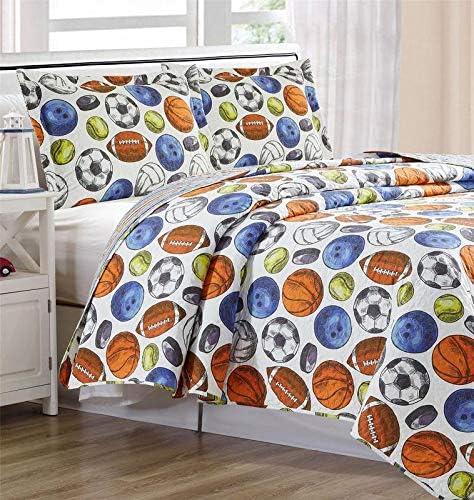 Home Main Quilt Sham Set Reversible Children S Bedspread Premium Kids Bedding Ultra Soft Microfiber Bed Set Athlete Twin Bedding Ultra Soft Home Kitchen