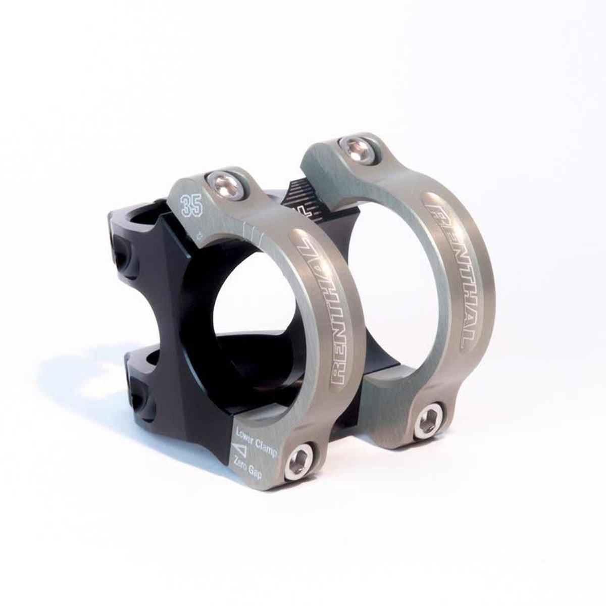 Renthal MTB-Vorbau Apex Gold Schwarz, 35.0 mm, 33 mm, 6 Grad