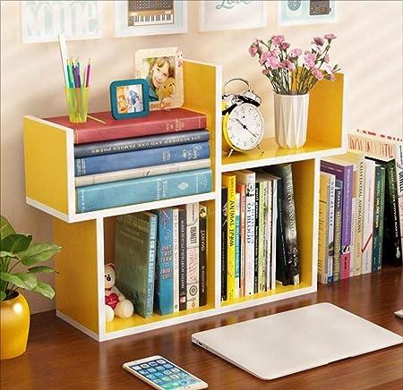 Pequeña Estantería Mesa Simple Mini Estante Simple Moderno Estudiante Librería Niños Escritorio Mesa De Comedor Almacenamiento,Yellow: Amazon.es: Hogar